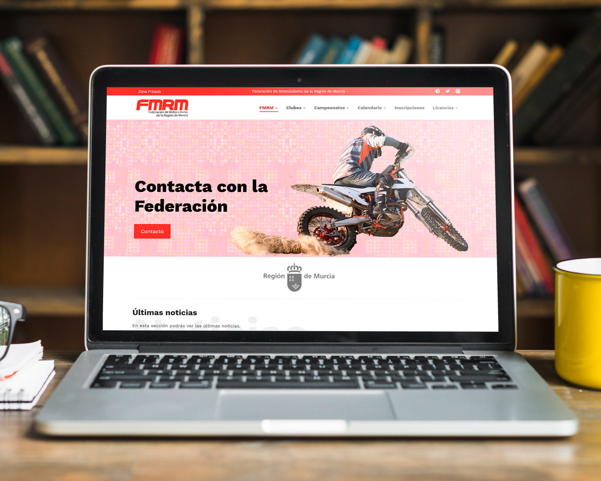 Federación motociclismo Región de Murcia: Nueva página web
