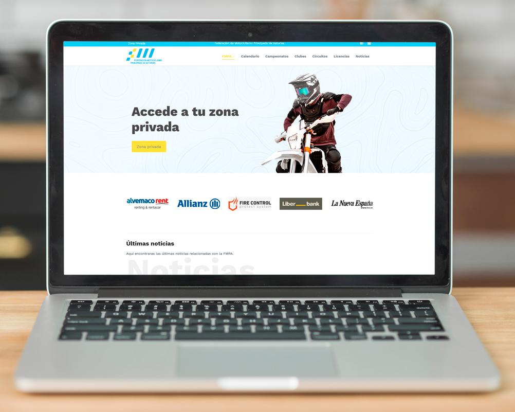 Web Federación Motociclismo Principado de Asturias